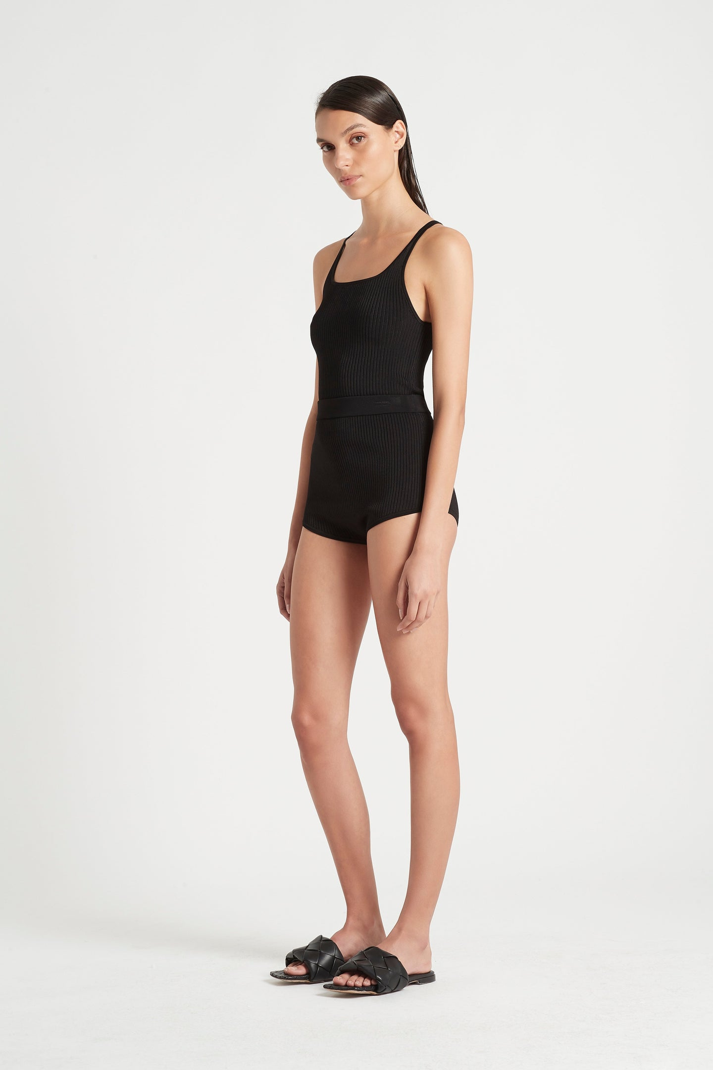 SIR the label AGNES RIBBED TANK BLACK