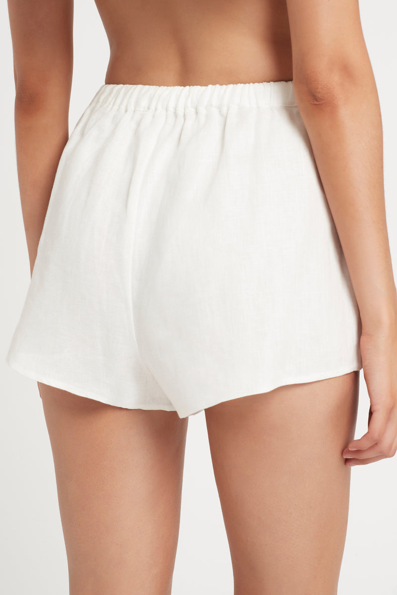 SIR the label INDIA MINI SHORT IVORY