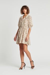 ANNALIE PLEATED MINI DRESS