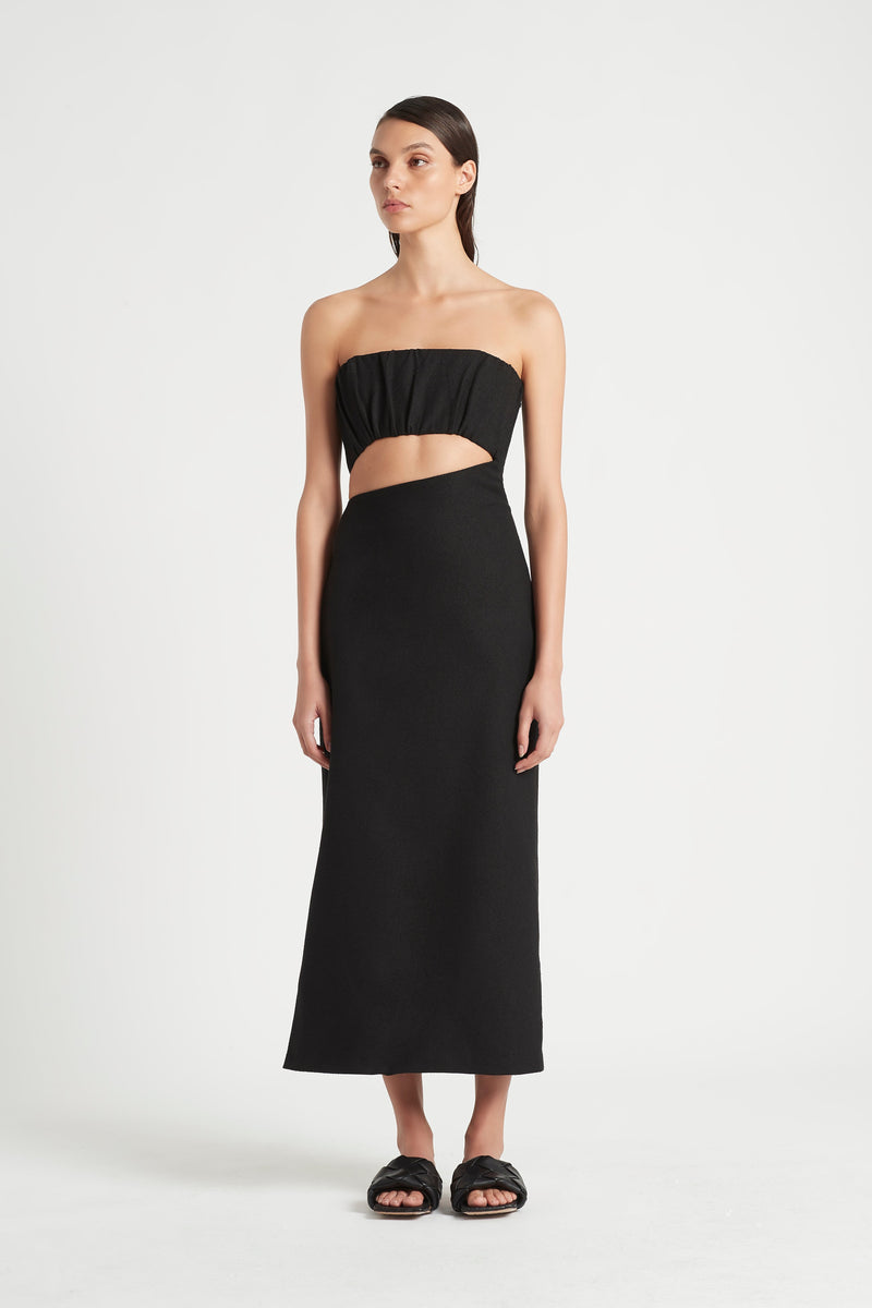 SIR the label YVES STRAPLESS DRESS BLACK