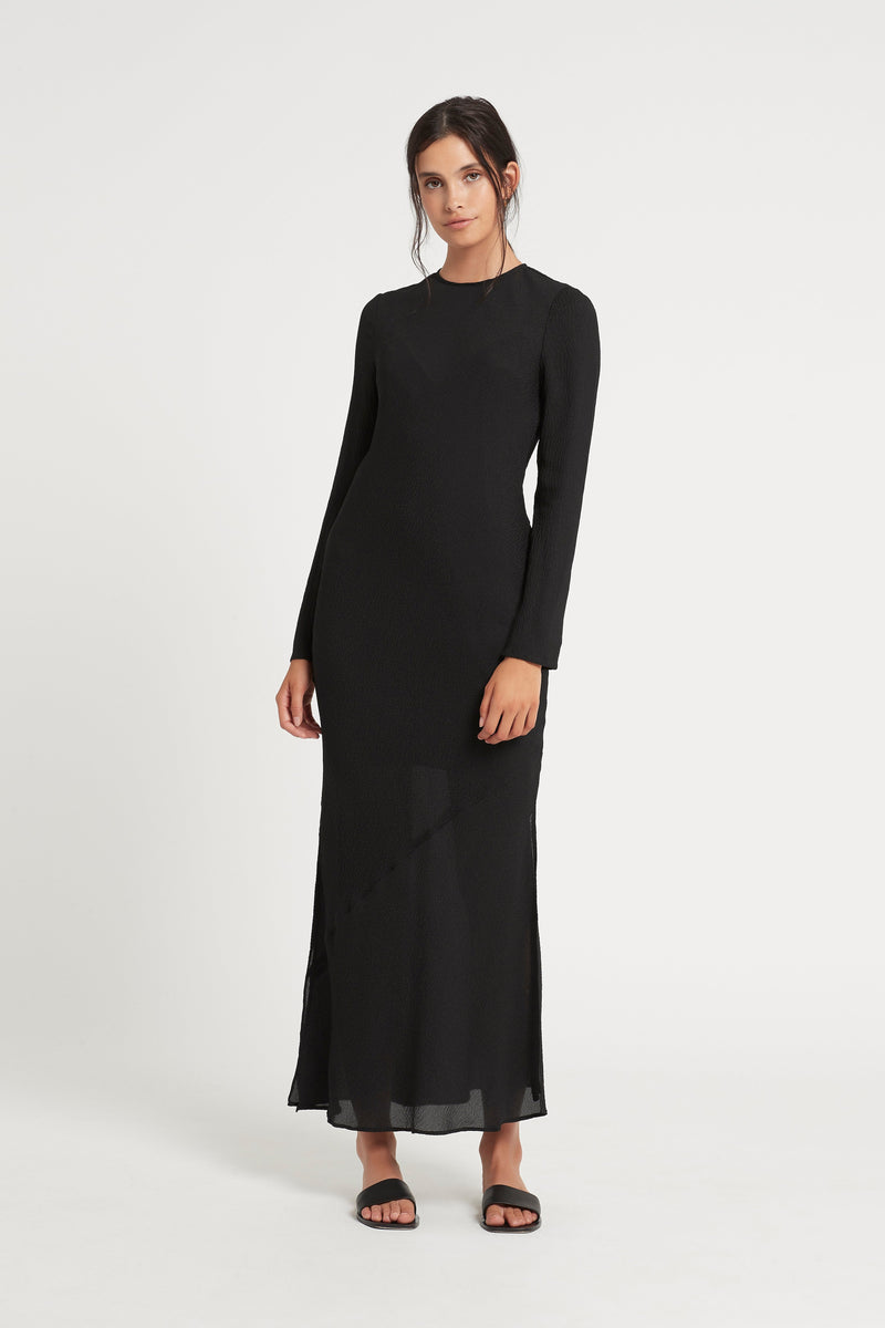 INDRE LONG SLEEVE MIDI DRESS