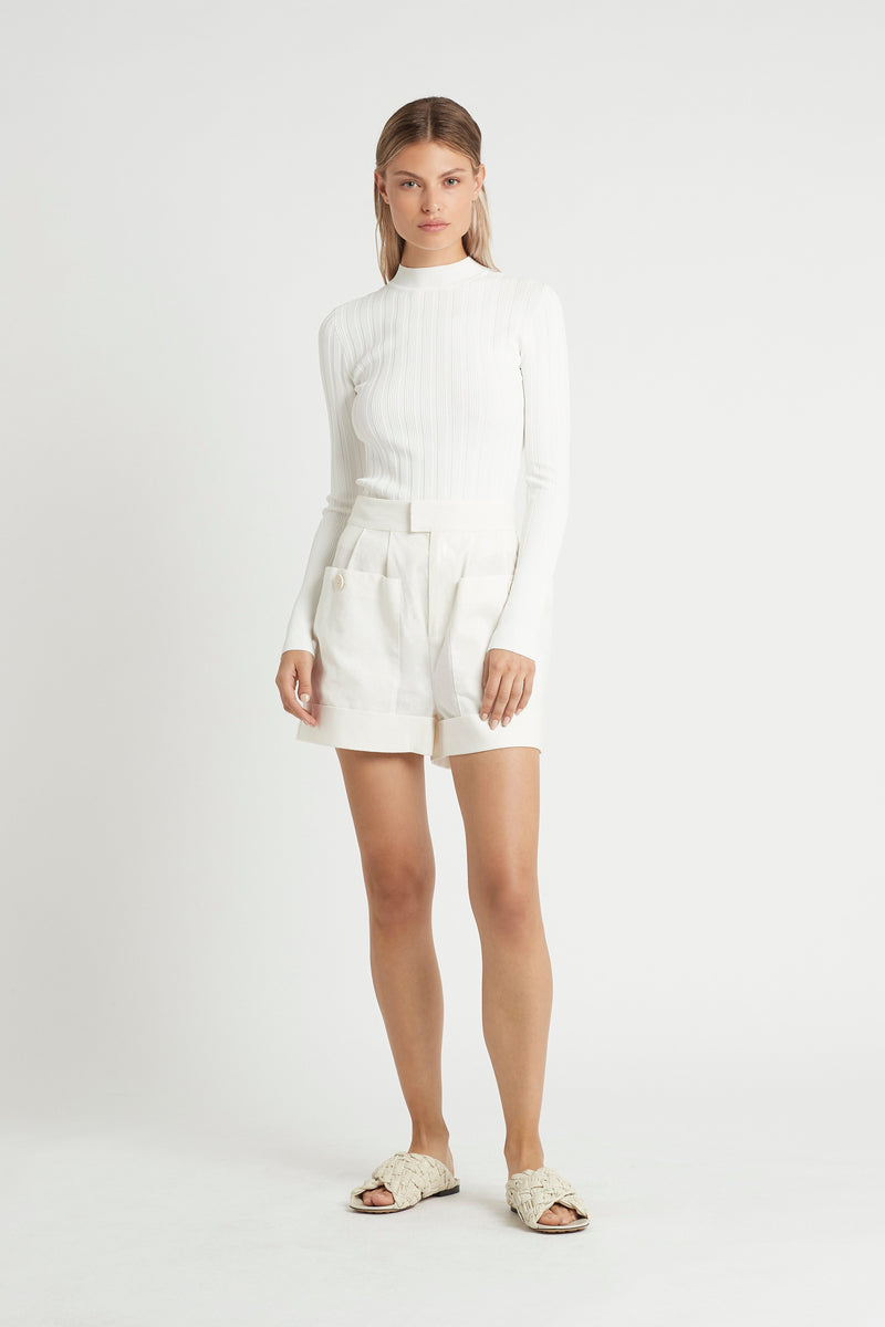 SIR the label CELLE LONG SLEEVE TOP IVORY