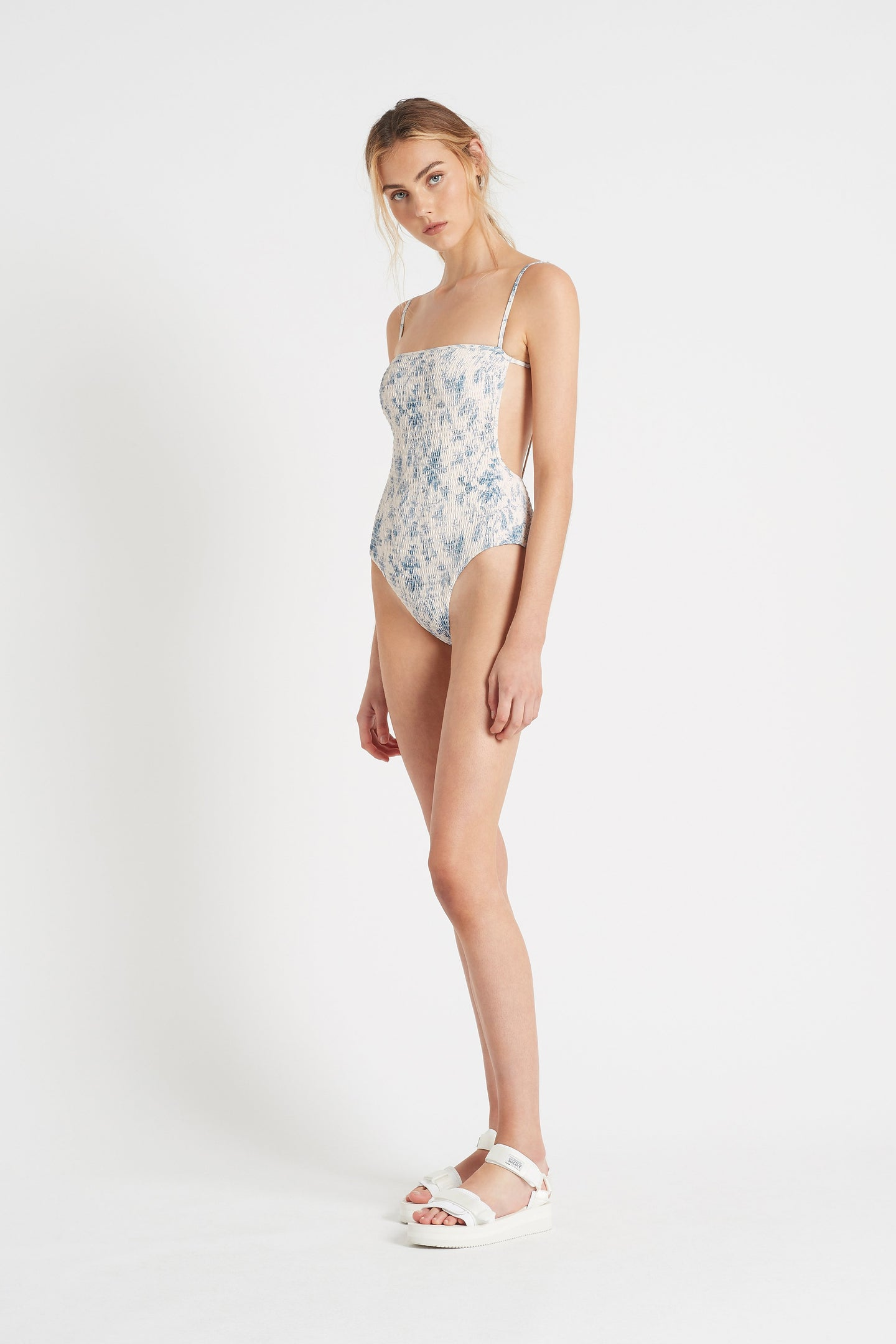 SIR the label CLEMENTINE SQUARE ONE PIECE BLUE CLEMENTINE PRINT