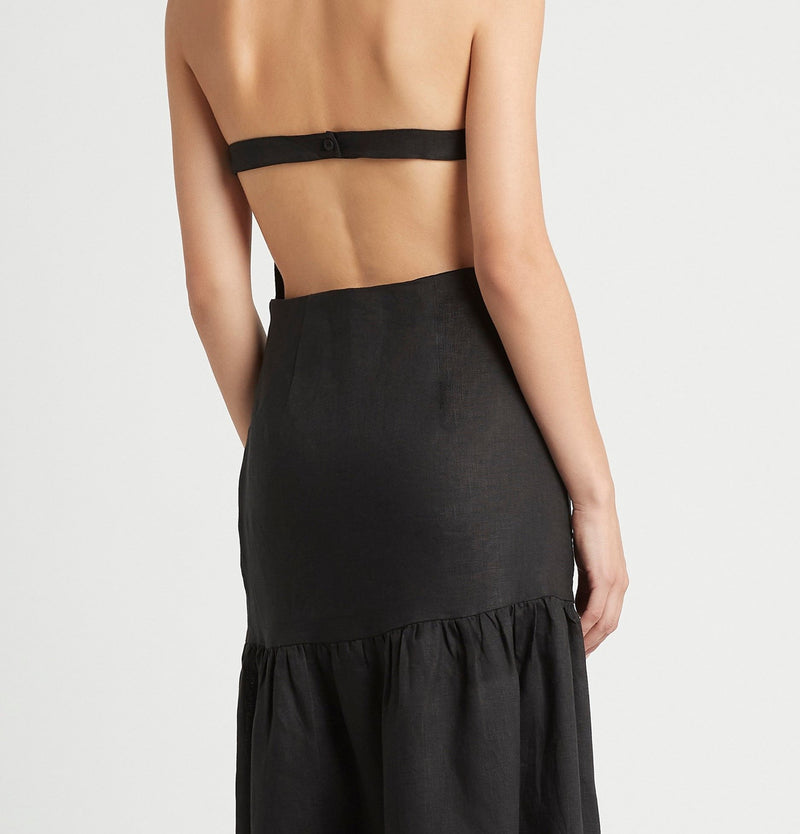 SIR the label BLANCHE HALTER  DRESS BLACK