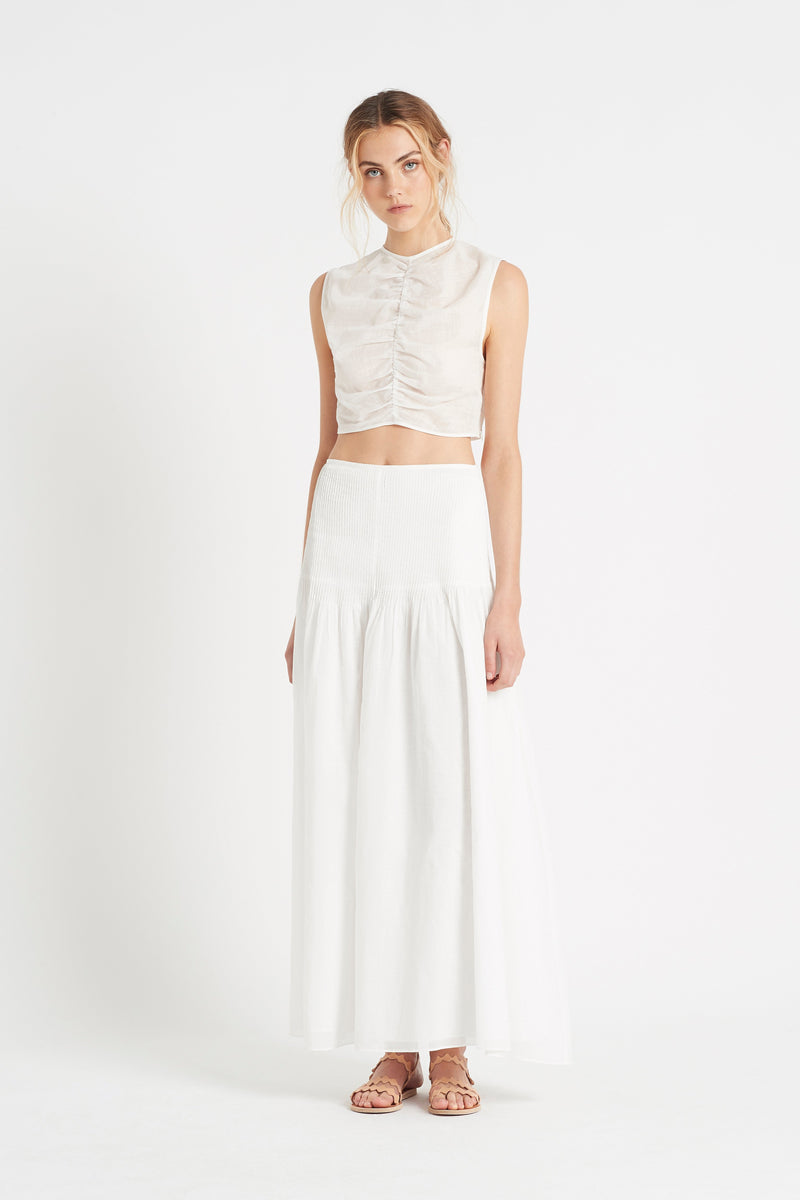 SIR the label ALINA MAXI SKIRT IVORY