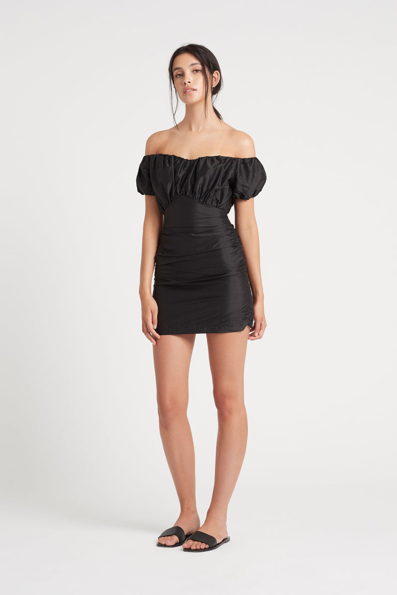 VALETTA OFF SHOULDER MINI DRESS