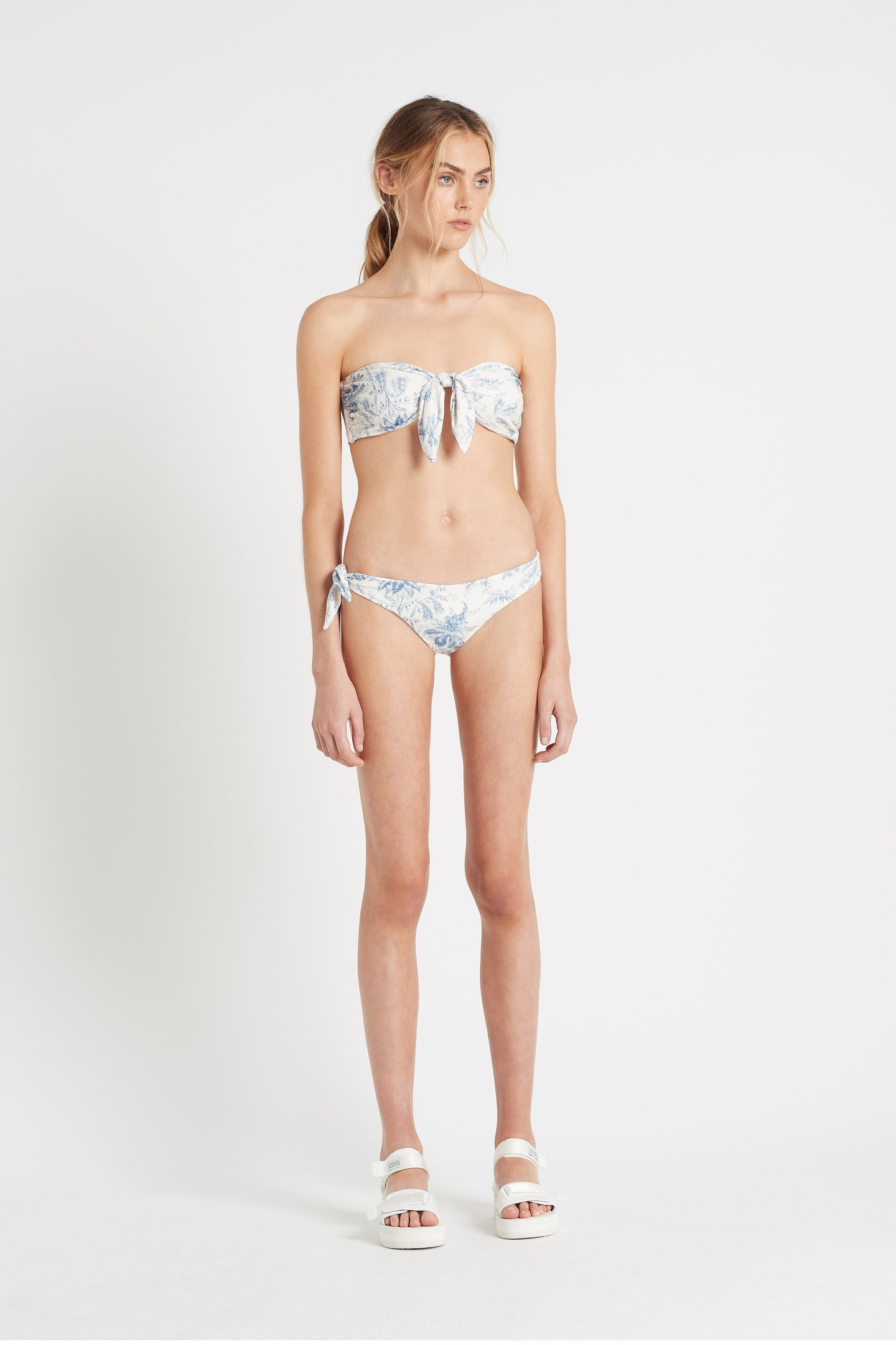SIR the label CLEMENTINE TIE BANDEAU BLUE CLEMENTINE
