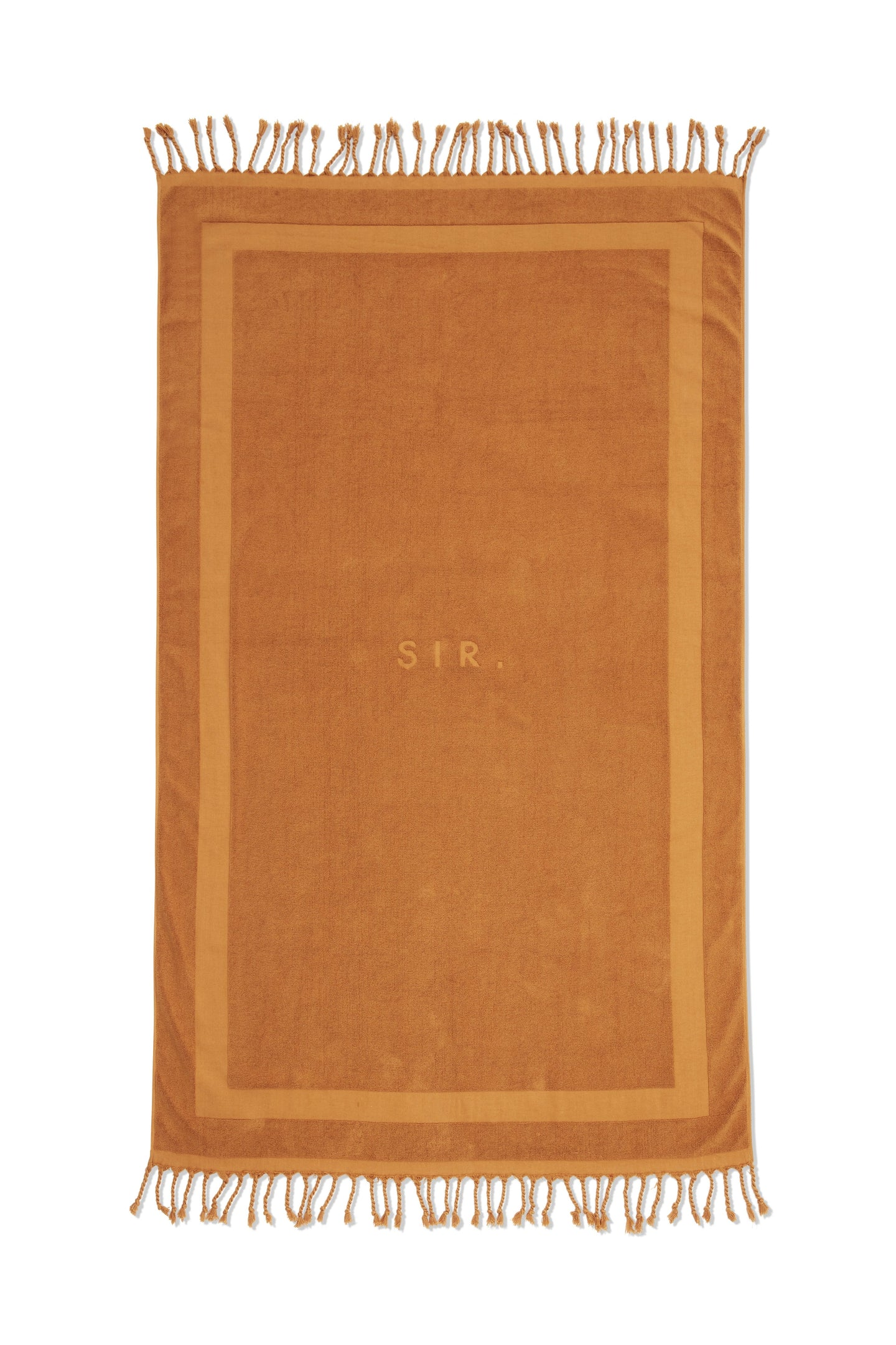 SIR the label FRINGED TOWEL BURNT ORANGE