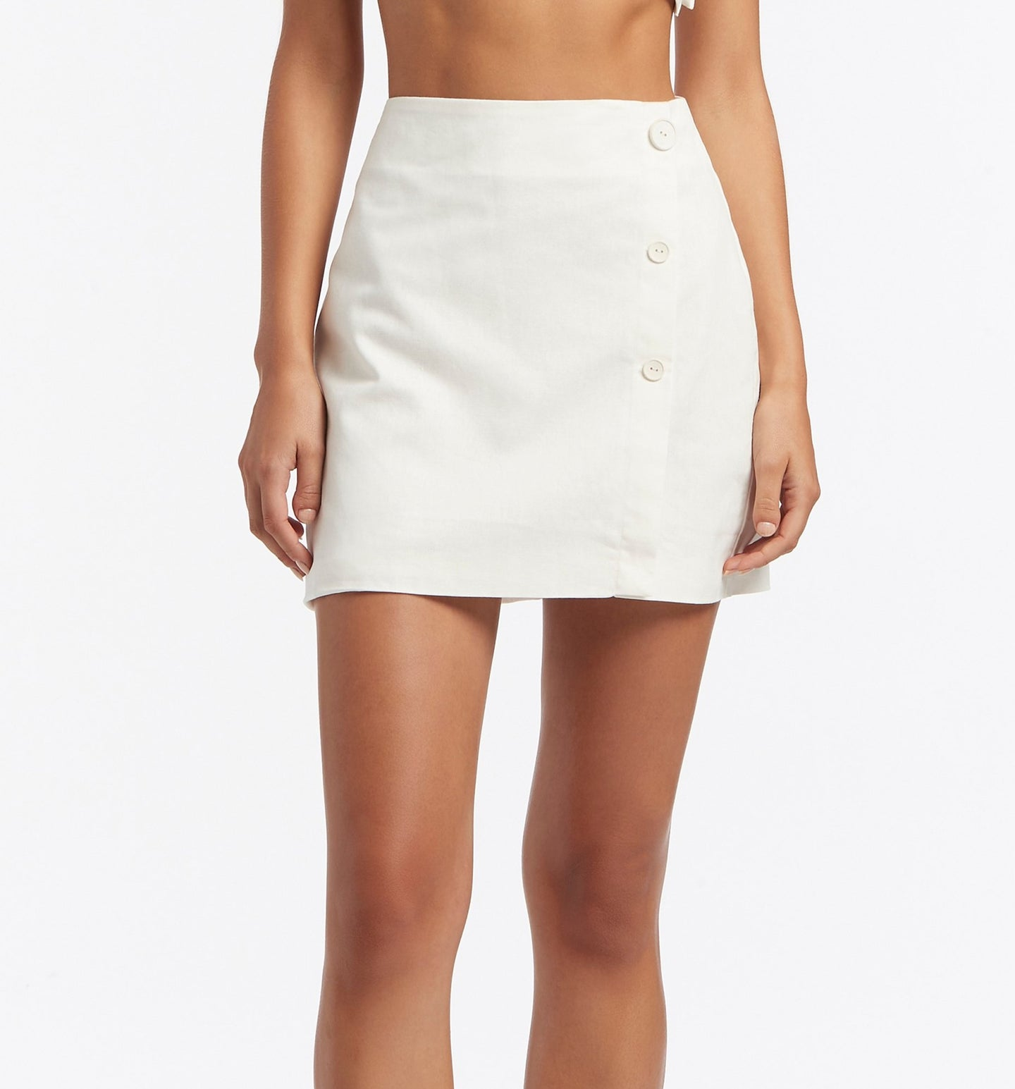 SIR the label MARTINE WRAP MINI SKIRT IVORY
