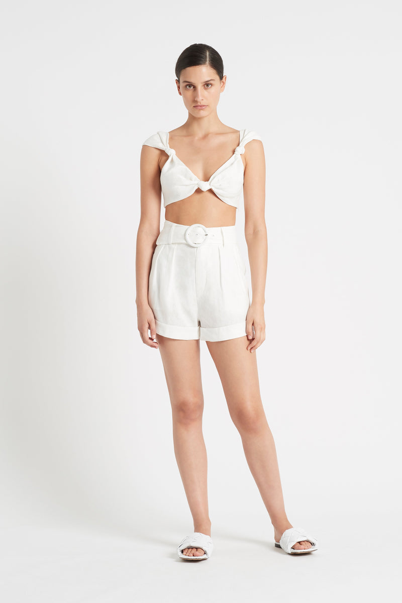 SIR the label AMBROISE SHORT IVORY
