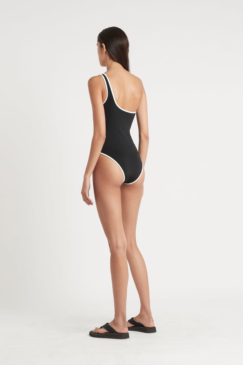 SIR the label CLAUDE ONE SHOULDER ONE PIECE BLACK
