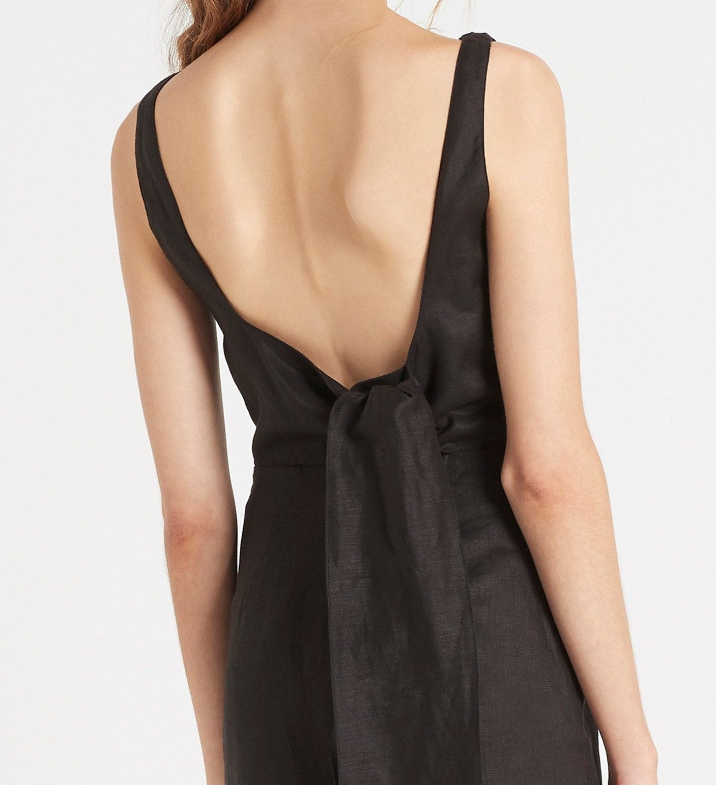SIR the label AMBROISE LOW BACK MINI DRESS BLACK