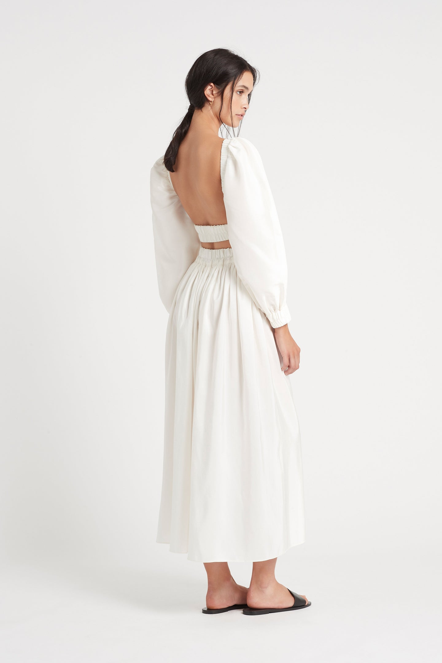 SIR the label VALETTA OPEN BACK TOP WHITE