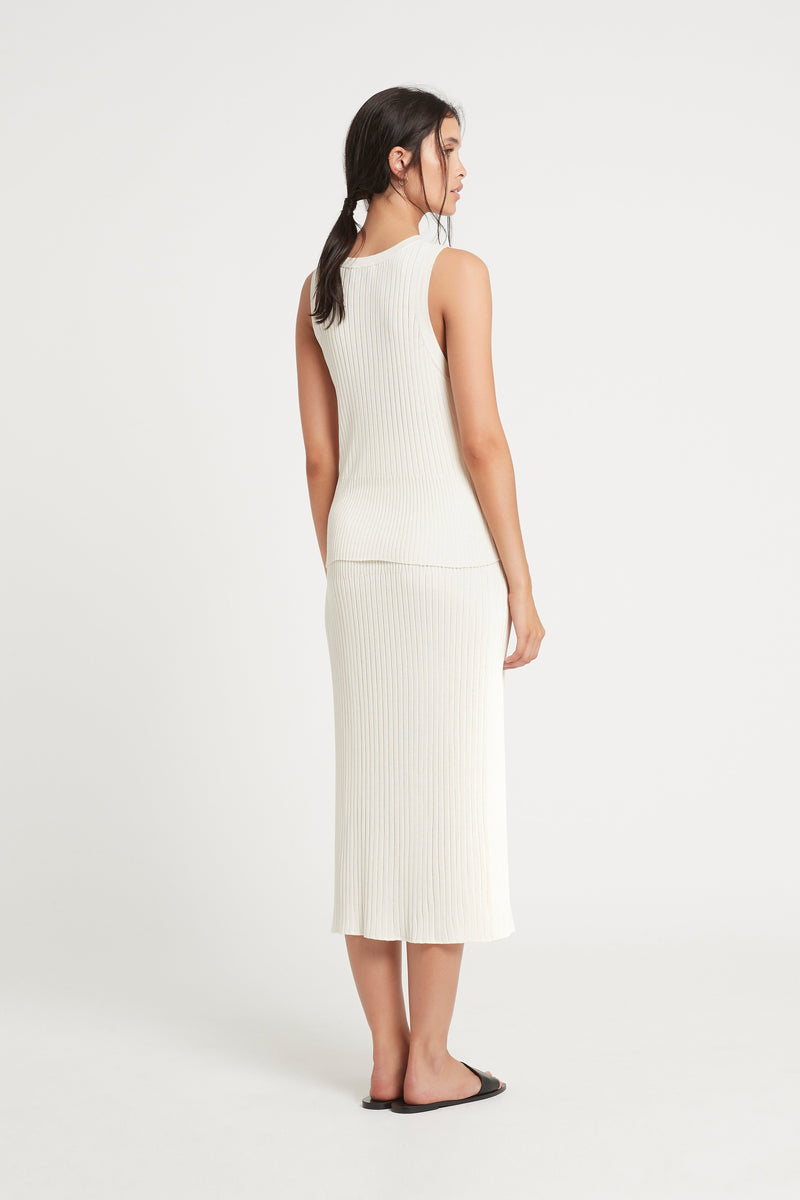 SIR the label ASTRID MIDI SKIRT IVORY