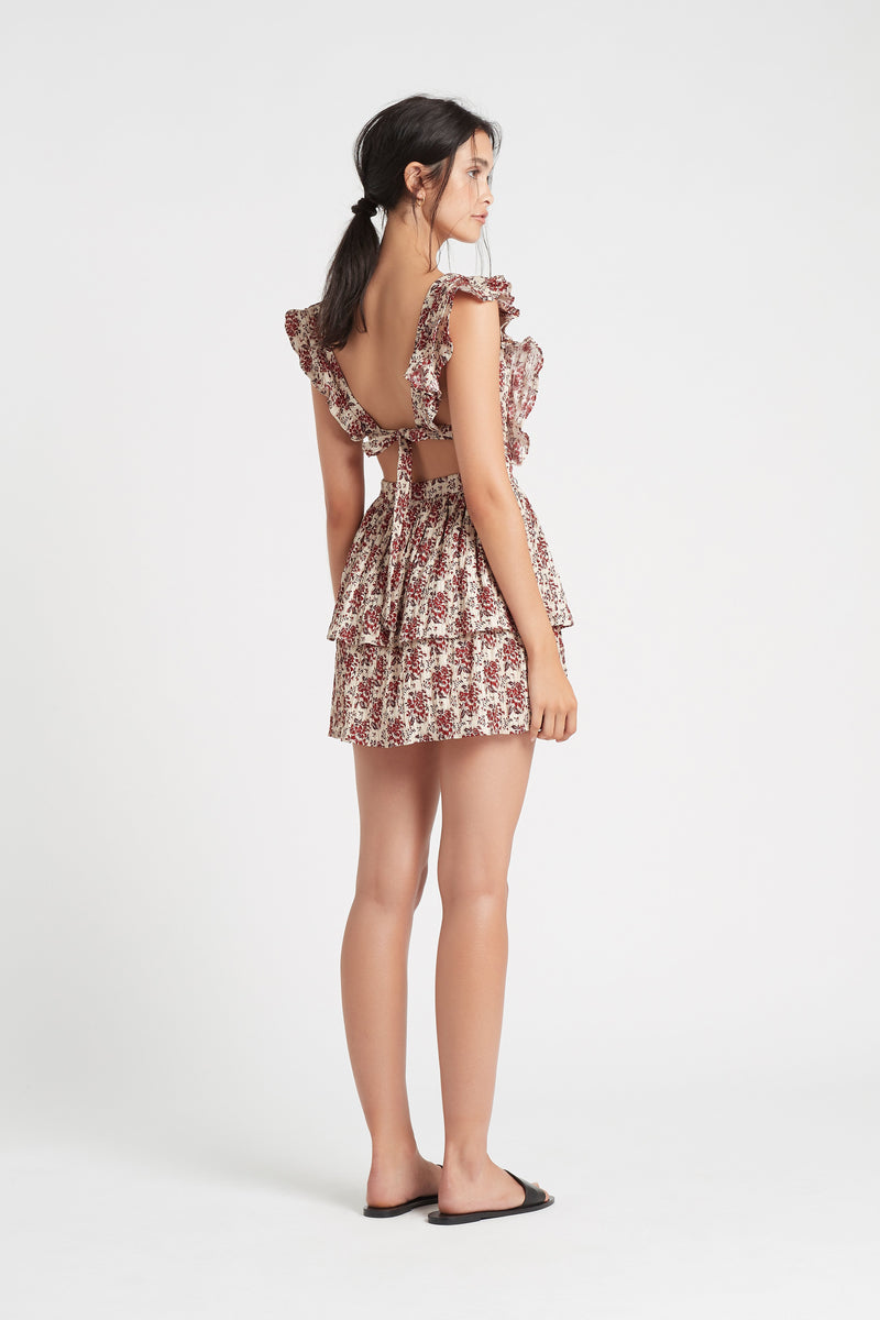 FLORÉ RUFFLE MINI DRESS