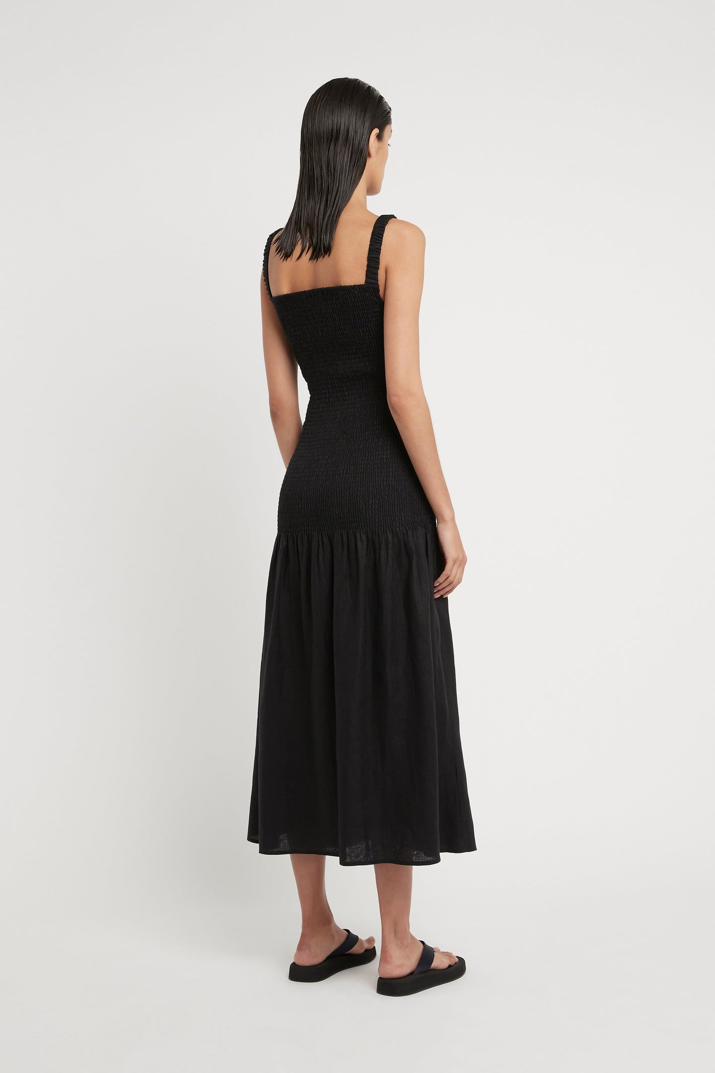 SIR the label MADELYN REVERSIBLE DRESS BLACK
