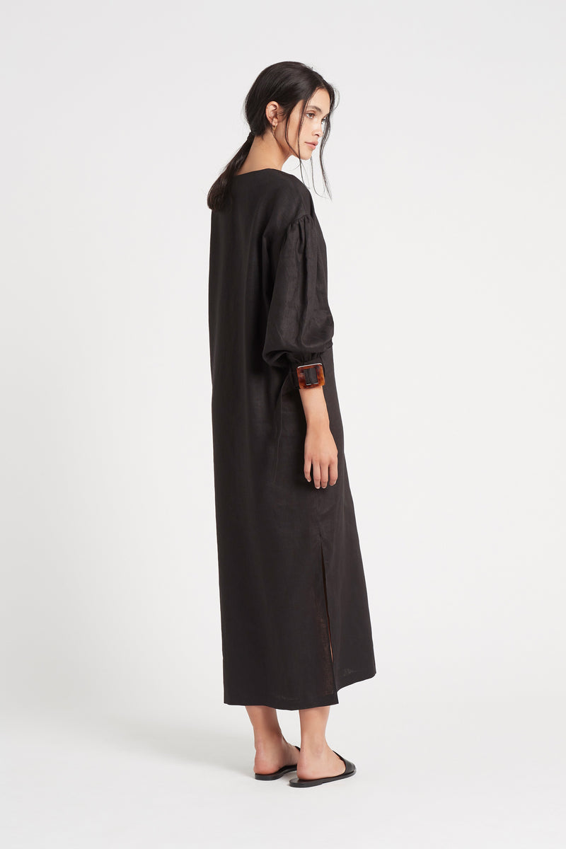 SIR the label PASCALE OVERSIZED MIDI DRESS BLACK