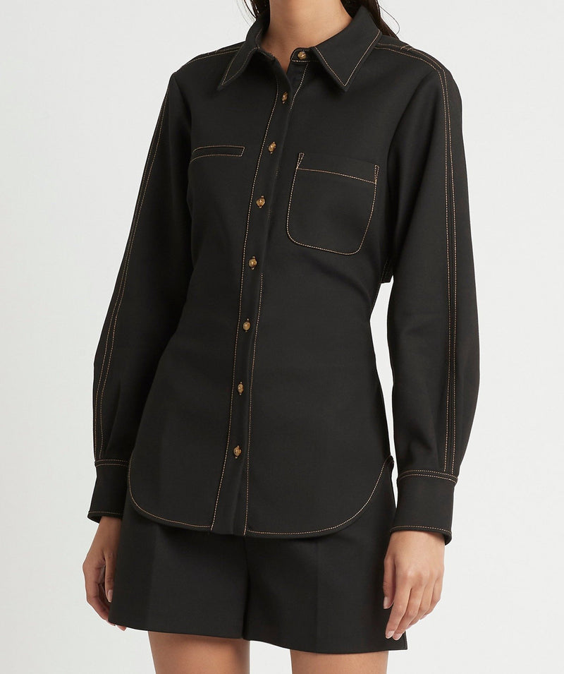 ANDRE OPEN BACK SHIRT