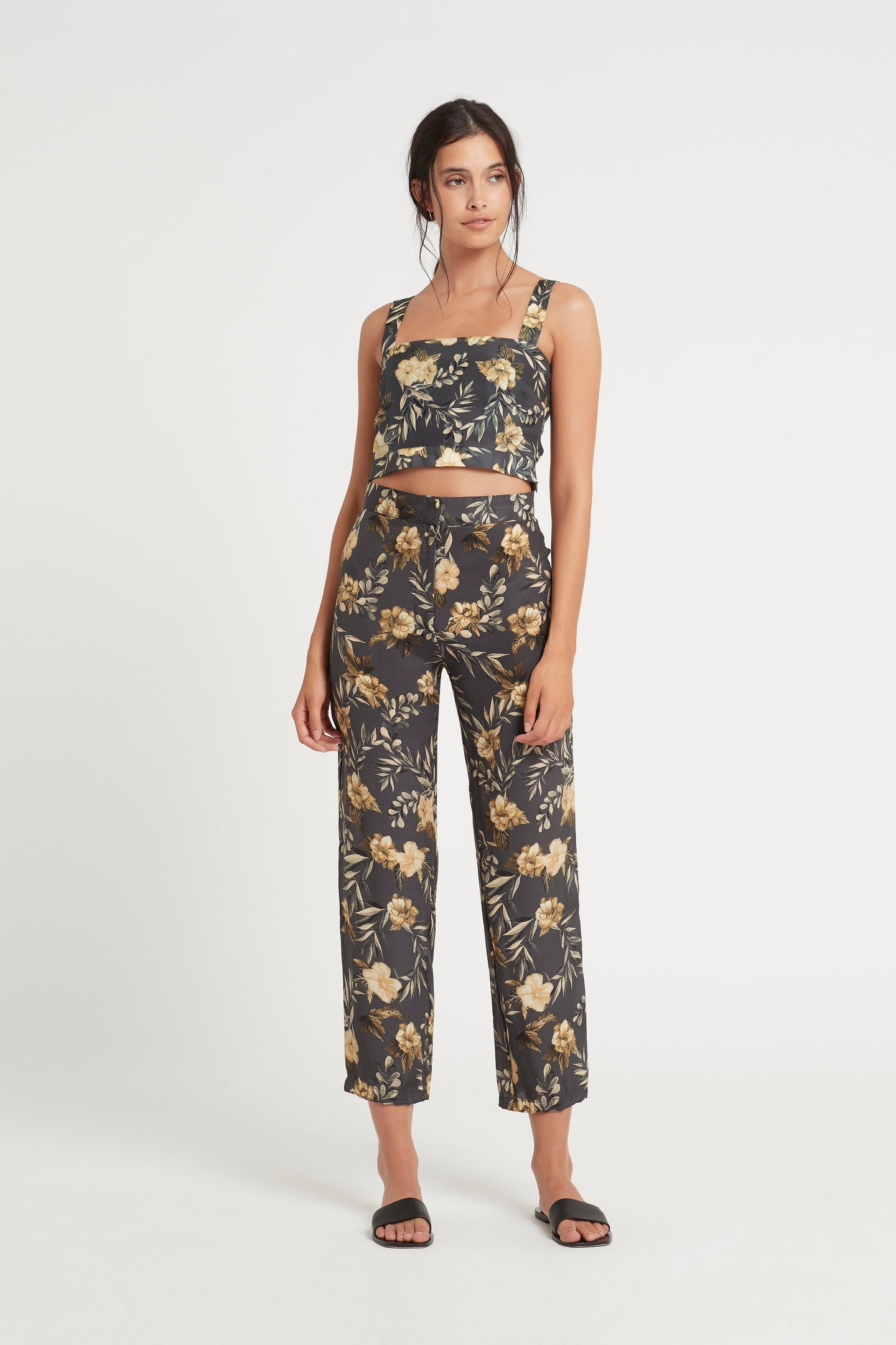 SIR the label LITA PANT CHARCOAL LITA PRINT