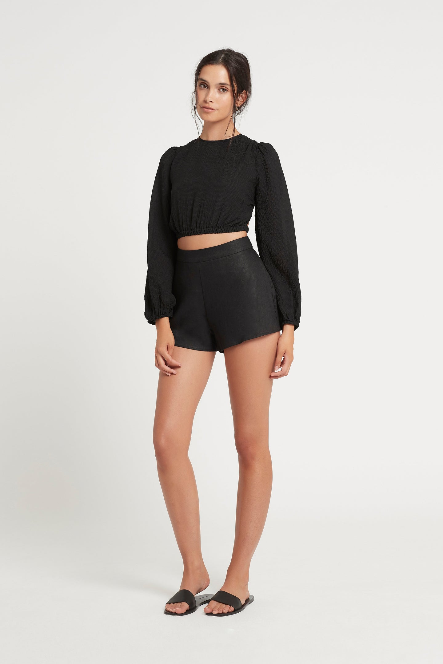 SIR the label INDRE LACED TOP BLACK
