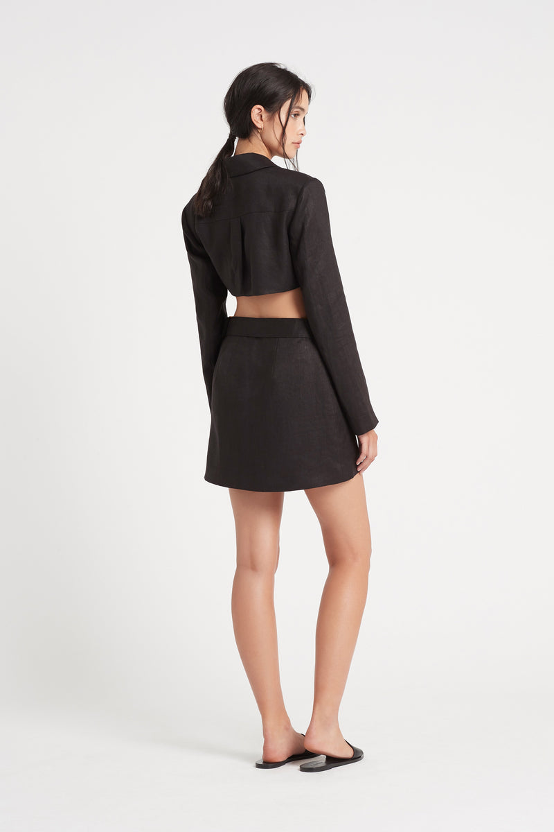 SIR the label PASCALE CUT OUT MINI DRESS BLACK