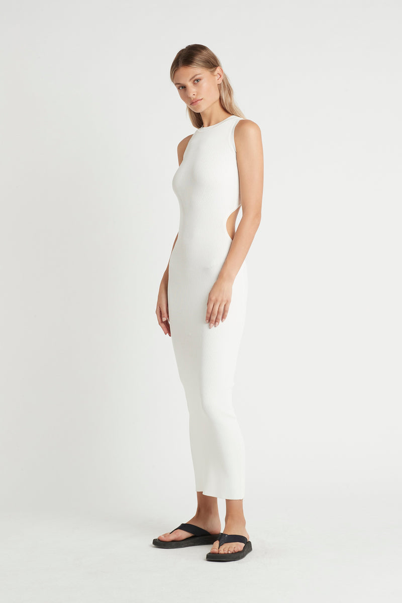 SIR the label CELLE CUT OUT DRESS IVORY