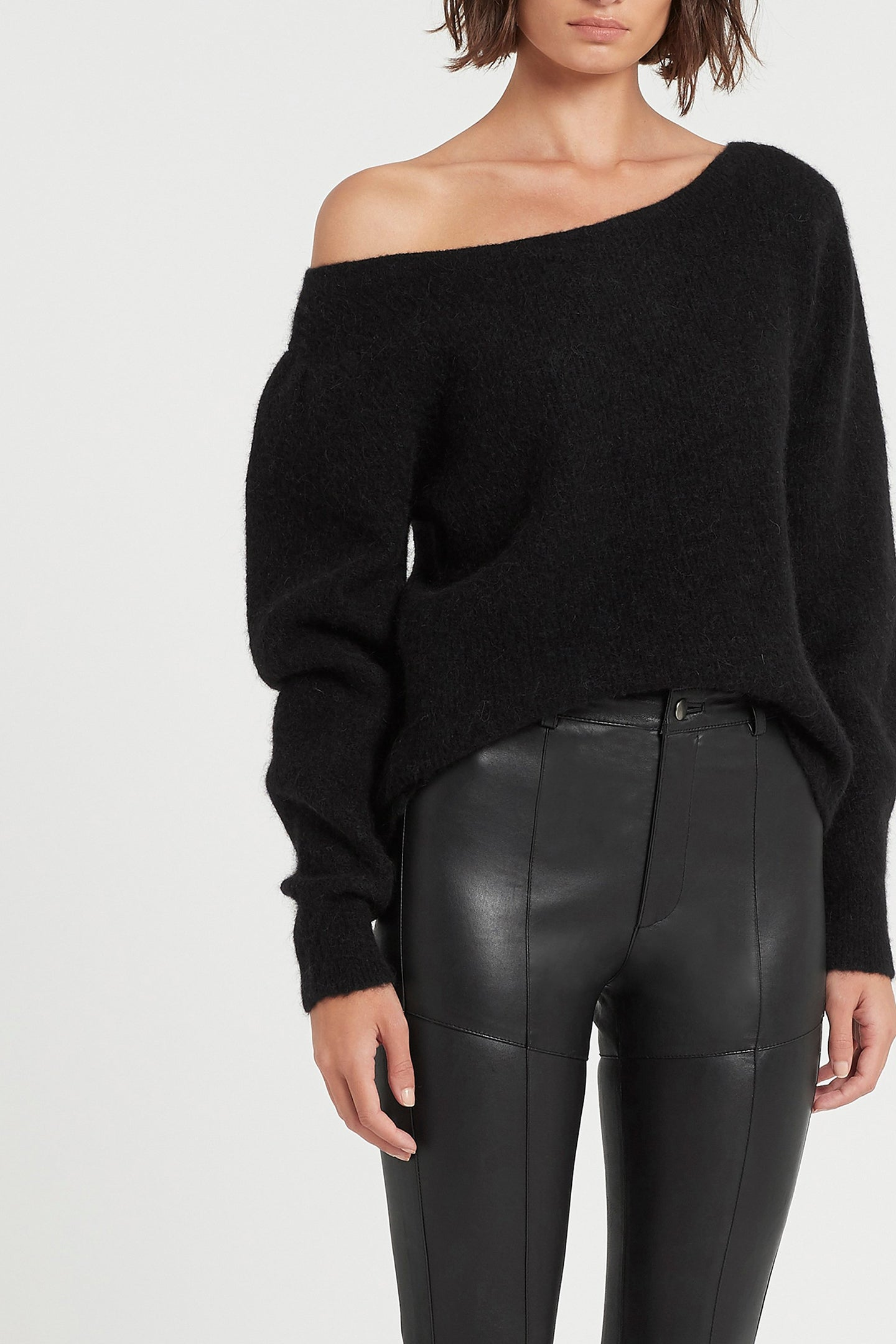 SIR the label AVA WIDE NECK SWEATER BLACK