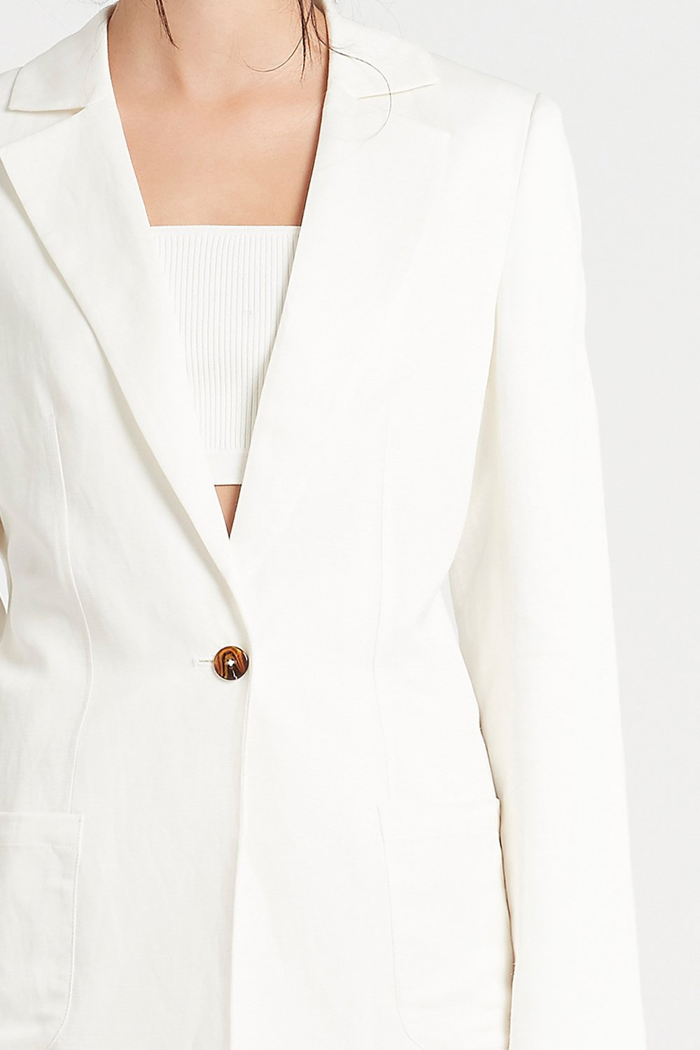 SIR the label YASMINE FITTED BLAZER IVORY