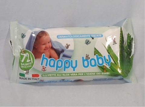 SALVIETTE HAPPY BABY ALOE/TALCO CF. 72PZ.