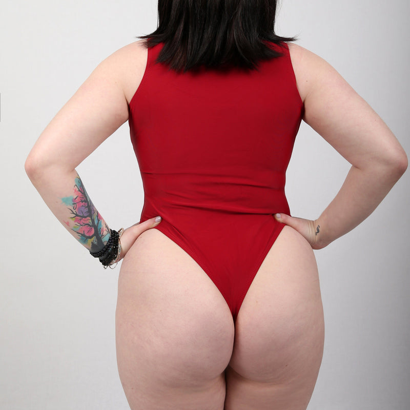 Elena Red One Piece Bikini JTM CLO