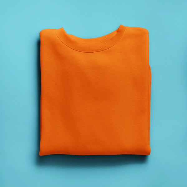 Orange Crewneck Unisexe JTM CLO