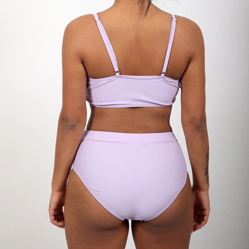 Marilyn mauve Two Pieces Long Sleeves Bikini JTM CLO