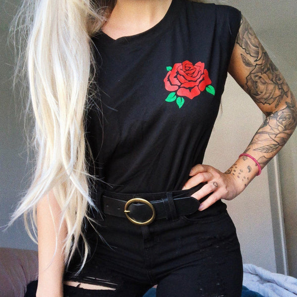 Je t'aime clothing JTM CLO Rose cropped tank jade lavoie