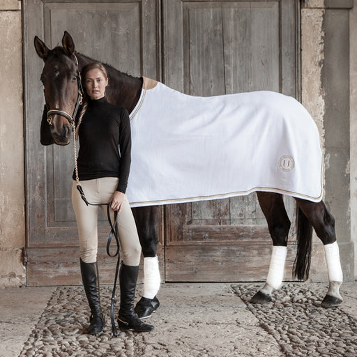 BLACK COMPETITION - horse rug white cotton