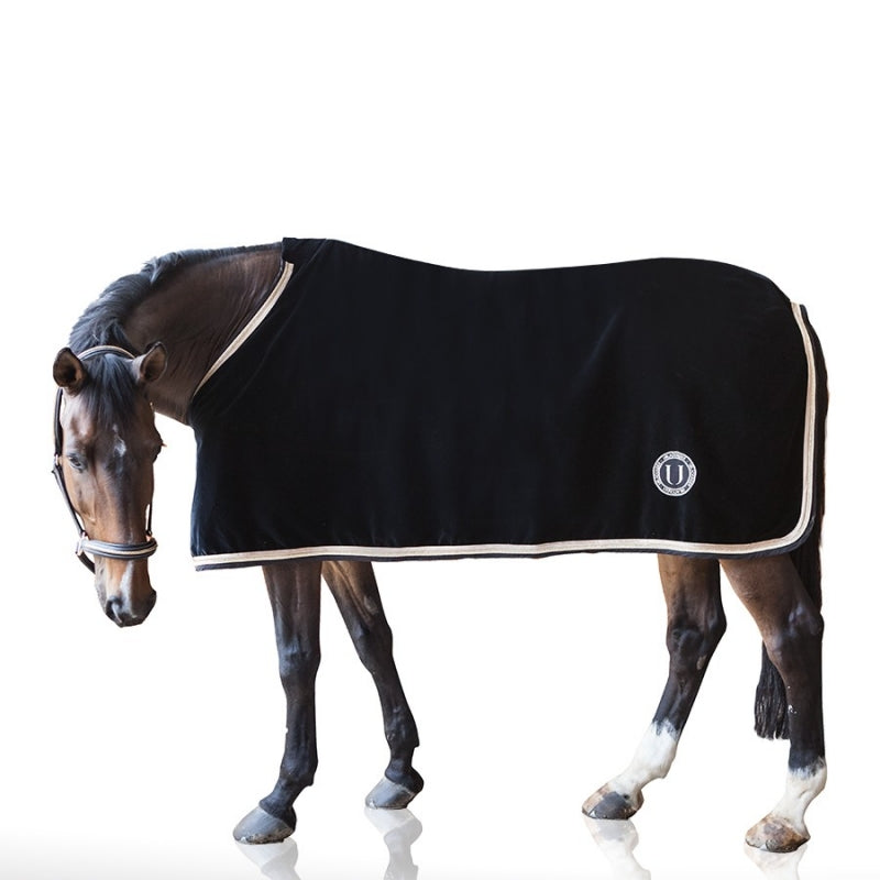U BLACK - COPERTA PER CAVALLO IN VELLUTO