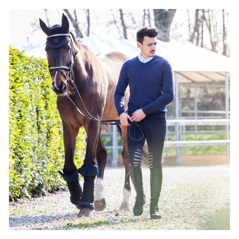Cuffia da cavallo / Black and Deep Blue