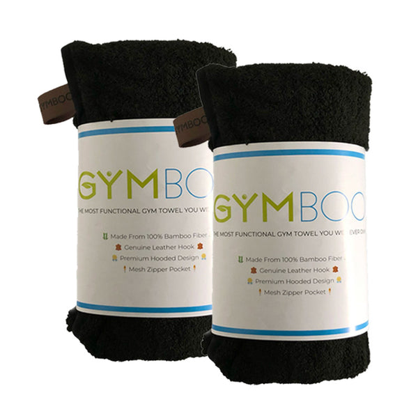 Twin Pack: 100% Bamboo Gym Towel - GymBoo Lifestyle