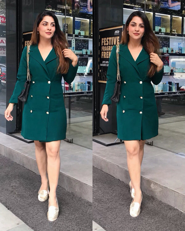 Bottle Green Coat Dress