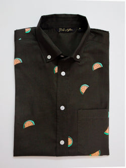 Melon Print Casual Men's Shirt