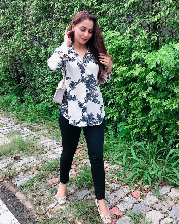 Creamy Floral Shirt