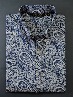 Printed Denim Men's Casual Shirt