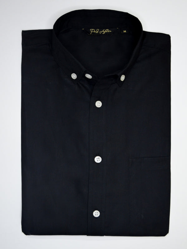 Black Camo Casual Men's Shirt