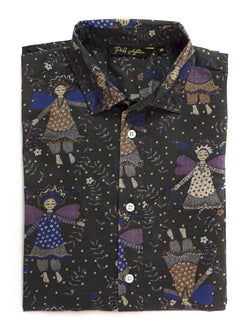Angel Print Casual Men's Shirt