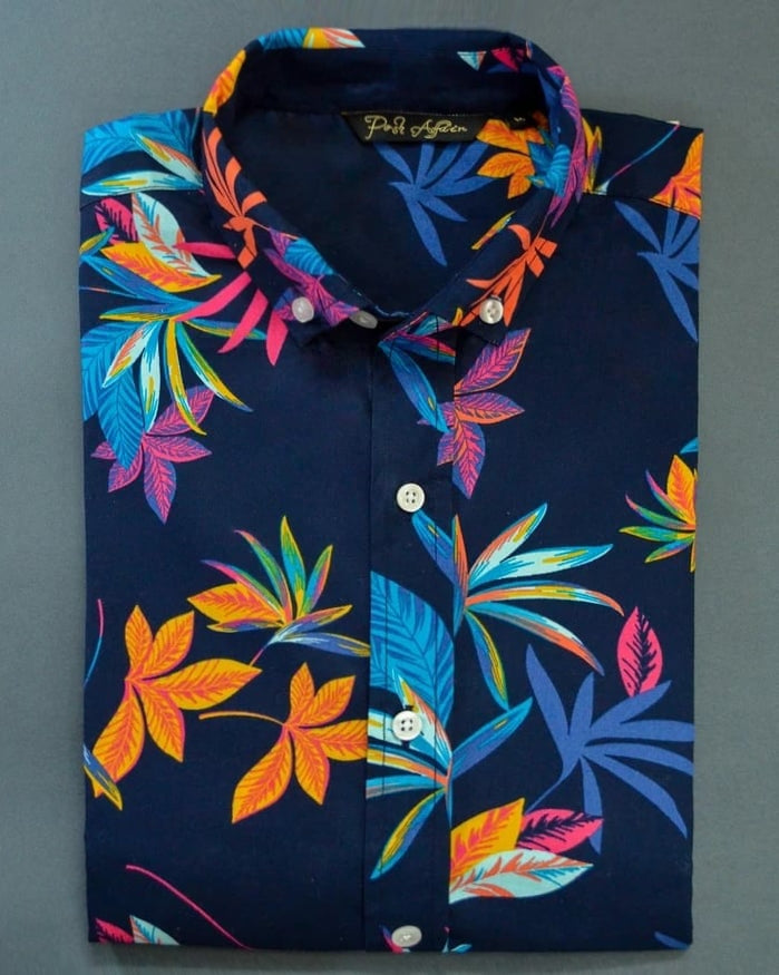 Wildflower Print Casual Men's Shirt