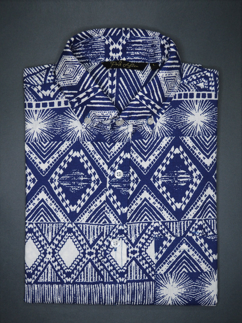 Abstract Print Casual Men's Shirt