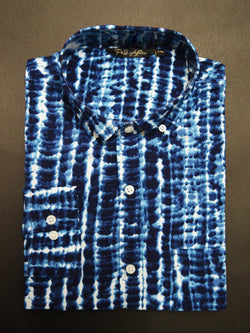 Aqua Print Casual Men's Shirt