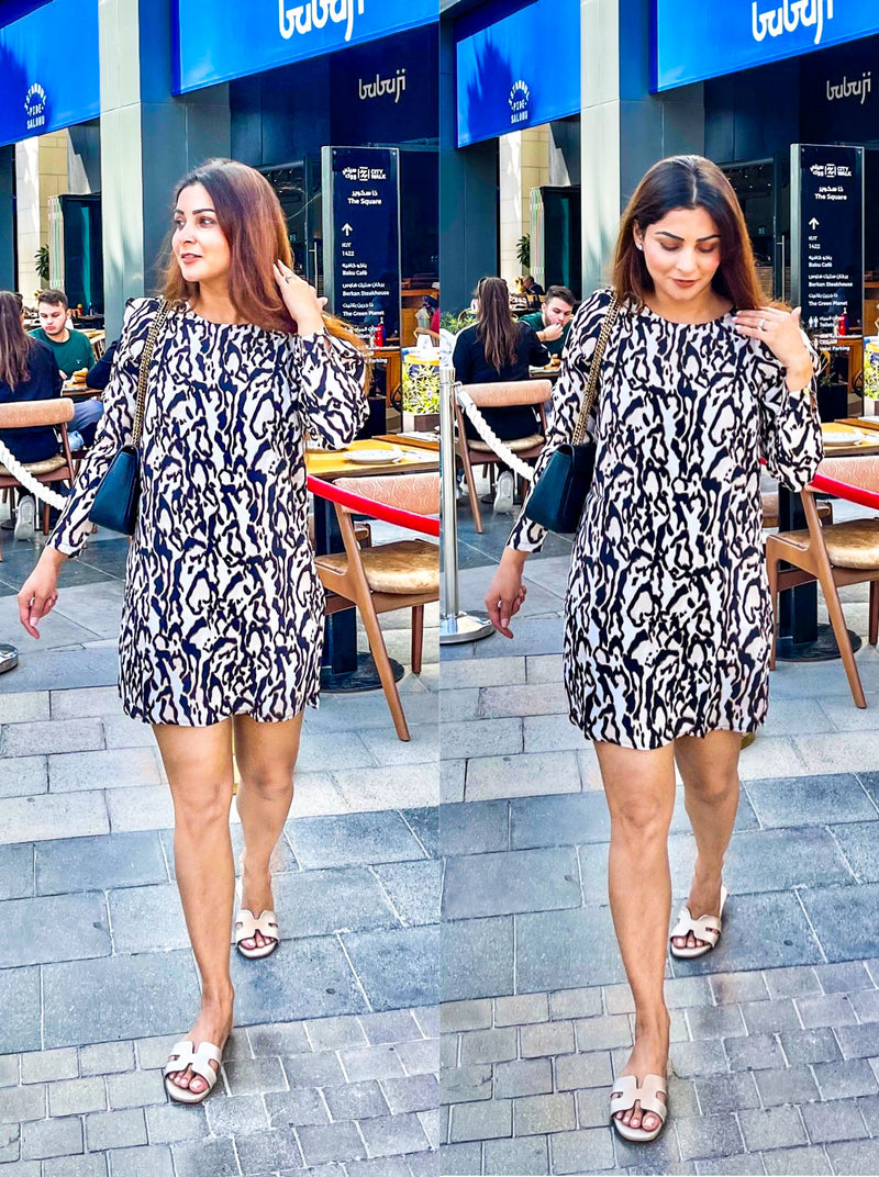 Animal Print Day Out Dress