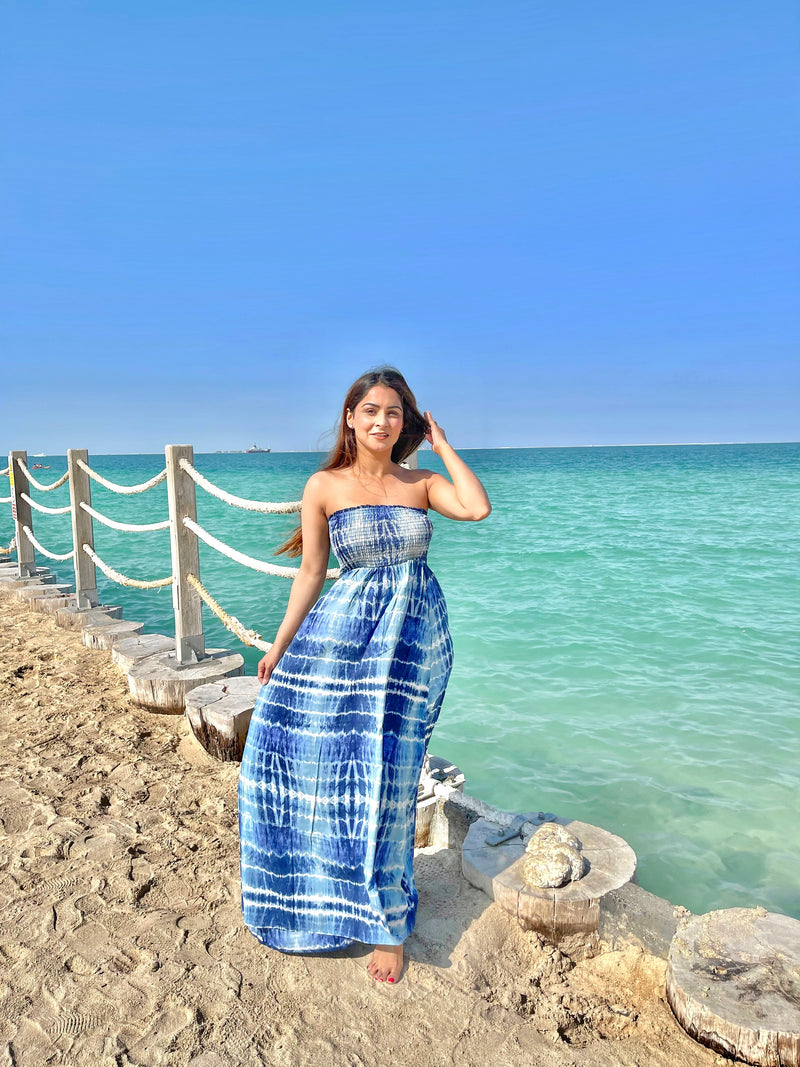 Beach Blue Tube Dress