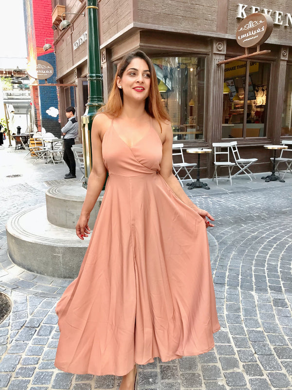 Flowy Nude Dress