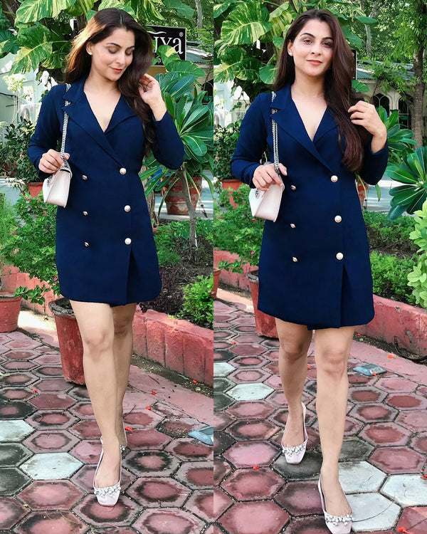 Blue Coat Dress